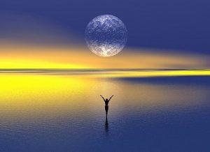 本日やぎ座満月。 『感謝』のエネルギーを「わたし」から 「月」へ投射しよう。