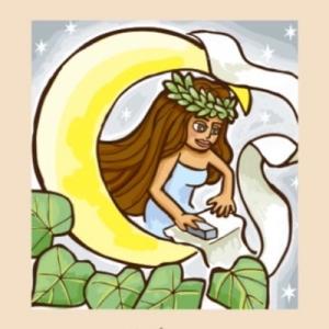 月に住むもの、日本はうさぎ。ハワイは「女神ヒナ」