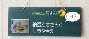 朝岡せんの月よみ薬膳 月相6:納豆とささみのサラダ合え